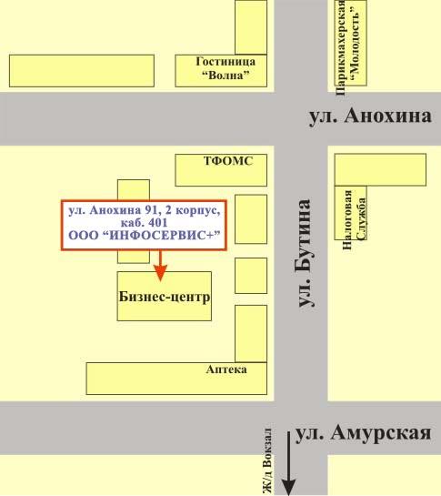Схема проезда к инфосервис
